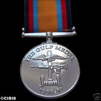 BRITISH GULF WAR MEDAL 1990-1991 FULL SIZE MILITARY AWARD DECORATION ARMY REPRO.