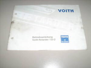 Details about Operating Instructions Voith Retarder 133-2 Stand June 1996