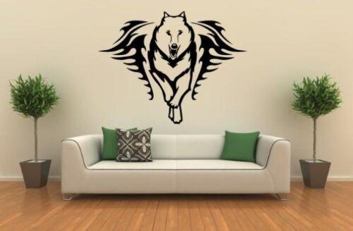 Tapisserie Murale running wolf tatouage #af039b