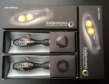 2 x Kellermann Blinker Micro 1000 Dark, LED, 142.100, schwarz, black, Paar, Satz