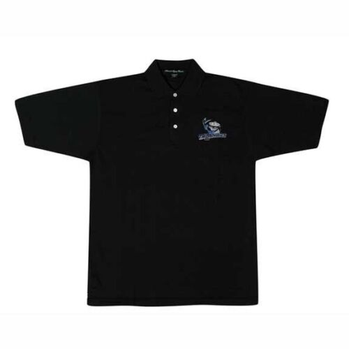 Danbury Trashers Logo Black Polo Shirt