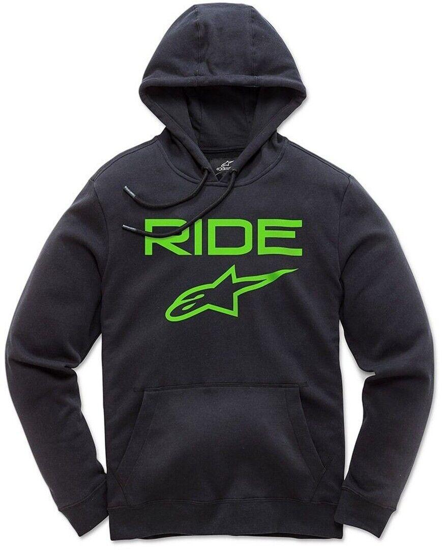 Alpinestars Casual Astars Ride 2.0 Fleece Pullover Hoodie - Black & Green
