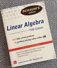 Lipson Marc Schaums Outline Of Linear Algebra Schau Ebay