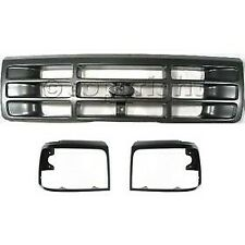 Headlight Door Grille Assembly For 1992 1996 Ford F 150 Kit