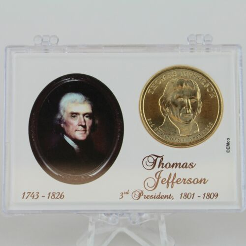 2007 $1 Thomas Jefferson Uncirculated Presidential Dollar in Gift Case