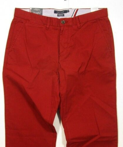 Tommy Hilfiger Men/'s Port Red Custom Fit Chino Pants