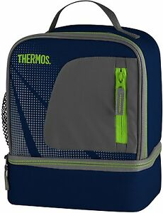 thermos radiance dual compartment lunch kit navy insulated. Black Bedroom Furniture Sets. Home Design Ideas