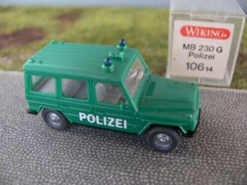 1//87 Wiking MB 230 G di polizia TETTO VERDE BLU LUCE circa 106 a