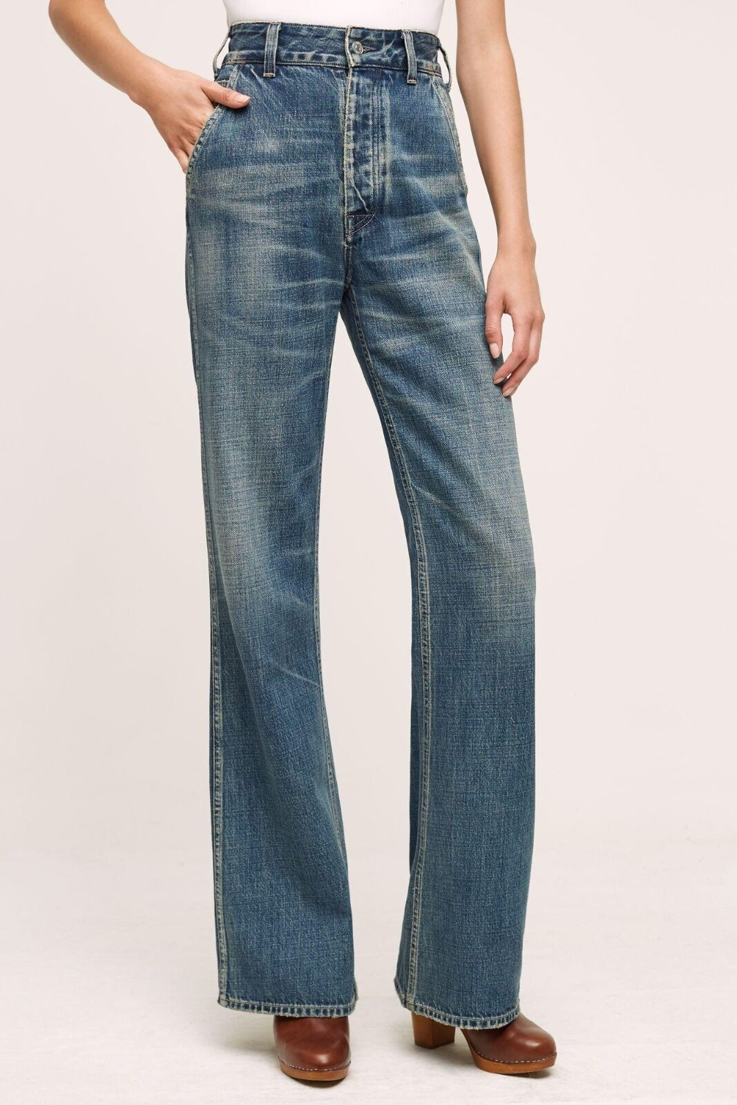 NWT NEW Anthropologie Citizens of Humanity Irina Ultra High-Rise Flare Jeans