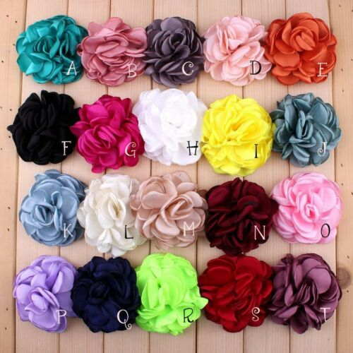 120P 8CM Vintage Soft Artificial Chic Hair Chiffon Fabric Flowers For Headbands