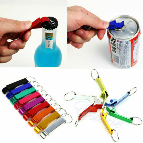 Key Chain Beer Bottle Can Opener Beverage Keychain Ring Claw Bar Pocket Tool E*