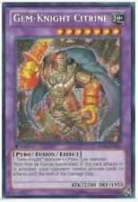 YUGIOH GEM-KNIGHT CITRINE HA06-EN019 1st EDITION SECRET RARE