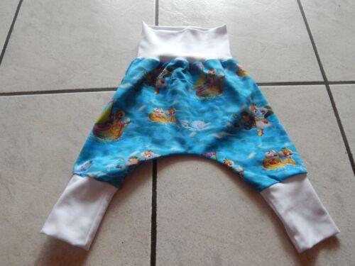 Mitwachshose-Pump pantalones de jersey azul con Diddl ratón y amigos en el agua