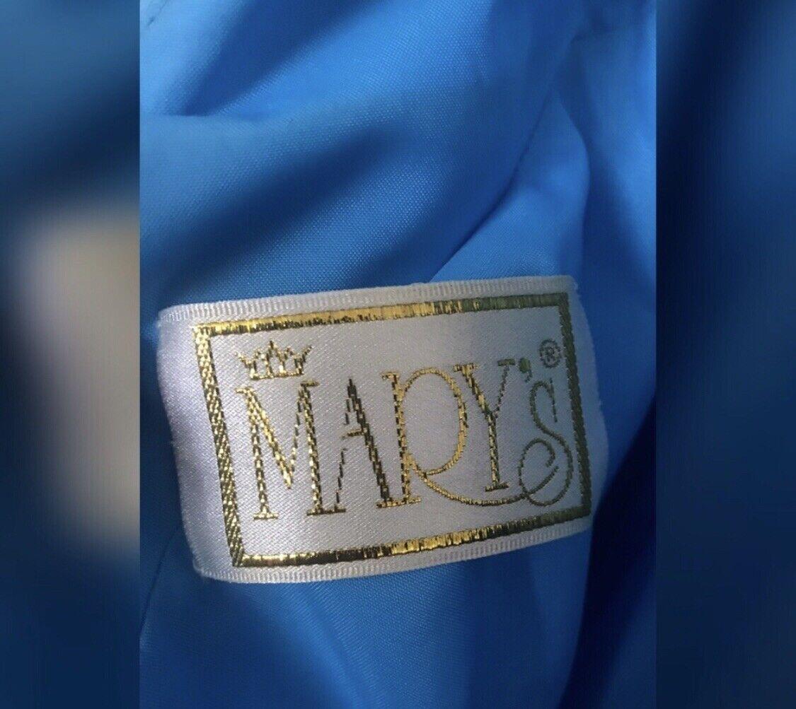 blue ball gown dress - image 3