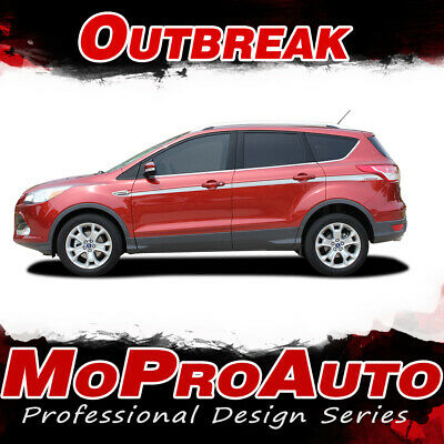2013-2019 Ford Escape OUTBREAK Mid-Body Line Vinyl Graphics Stripes Decal