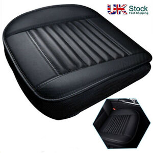 Car-Front-Seat-Chair-Cushion-PU-Leather-Soft-Pad-Cover-Black-Protector-Mat