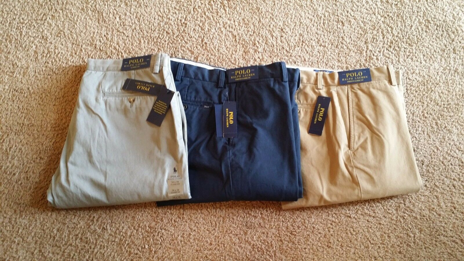 Polo Ralph Lauren GENUINE Casual Pants  Flat Front  Brand New  Very good Quality