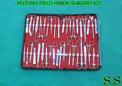 172 PC US MILITARY FIELD MINOR SURGERY SURGICAL VETERINARY DENTAL INSTRUMENTS KT