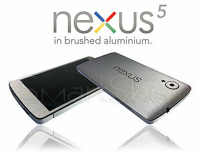 Brushed Metal Skin For LG NEXUS 5  Wrap Cover Sticker Protector Decal Case