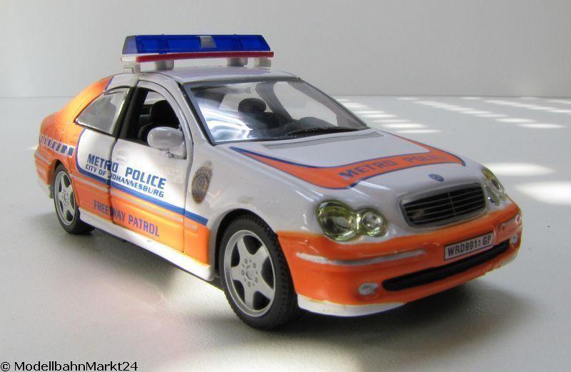MERCEDES C police Johannesburg 2002 1 43 comme Neuf-OVP