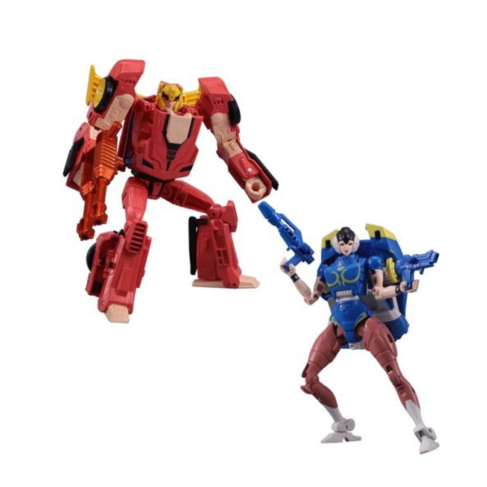 Transformers & Street Fighter 2 2 2 HOT RODIMUS Ken vs ARCEE ChunLi Collection Toys 913517