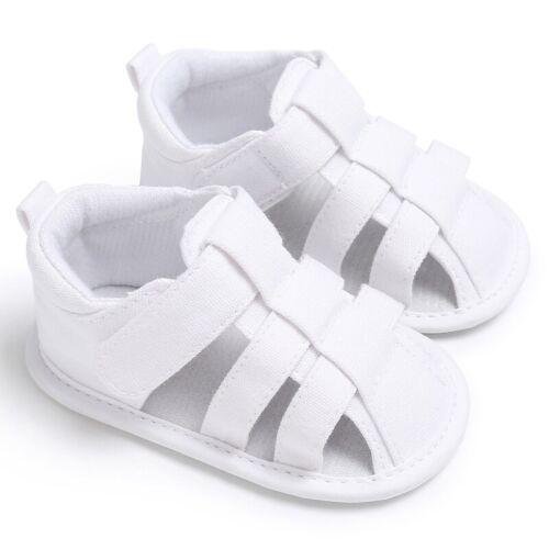 Newborn Baby Boy Hollow Sandals Non Slip Cozy Soles Pram First Walking Shoes UK