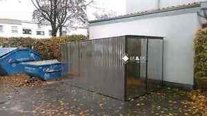 Blechgarage-2-5x6x2-14-Garage-Lager-Stahlhalle-Geraeteschuppen-Schuppe-verzinkt