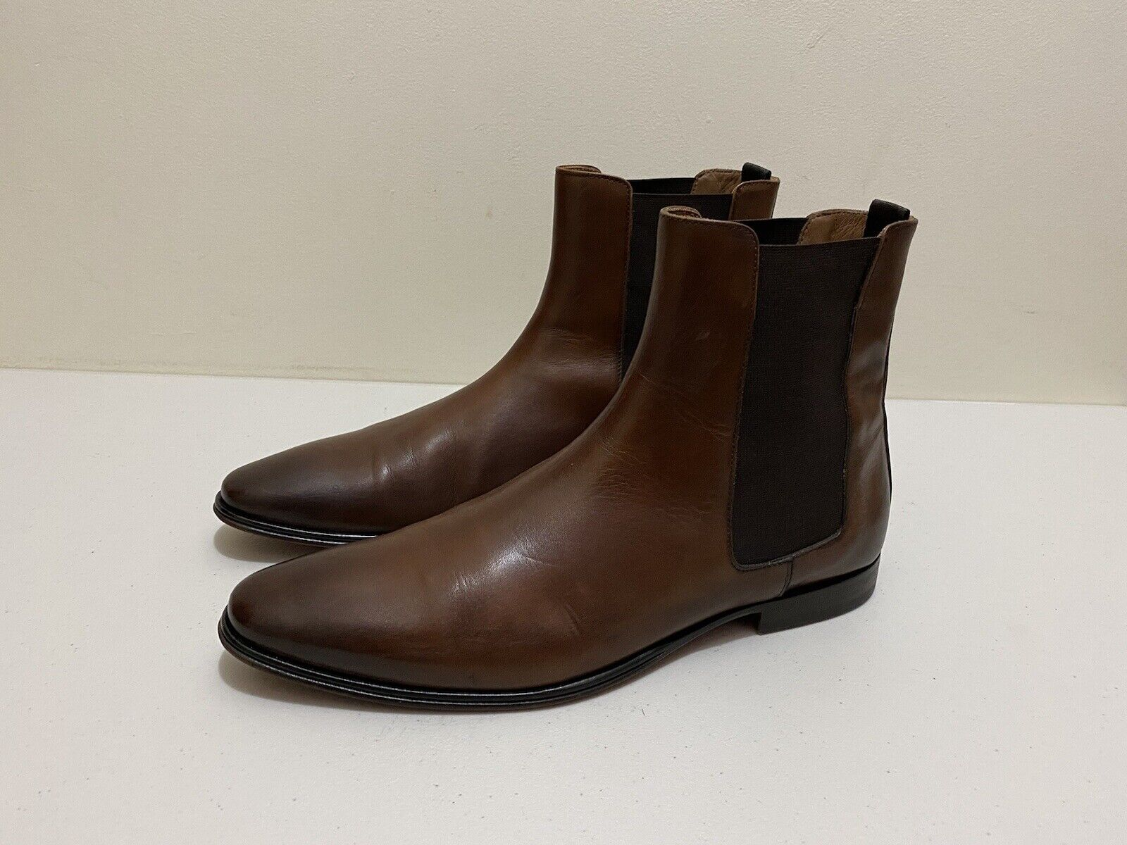 Doucal's Leather Boots Mens ~ Size 42 ~ Great Cond Handmade Chelsea Style Shoes
