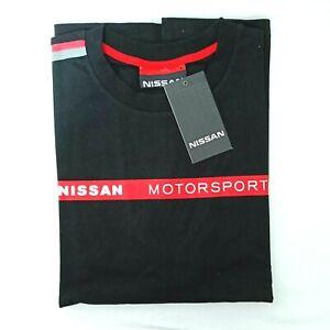 Nissan Motorsport Mens T-Shirt Nismo Racing Team Black Short Sleeve Official