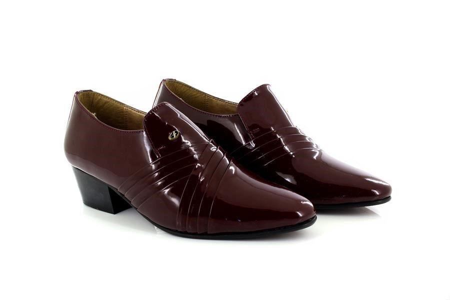 Uomo Lucini Burgundy VERNICIATA CROCE infilare pieghe in pelle da infilare CROCE tacco scarpe e06042