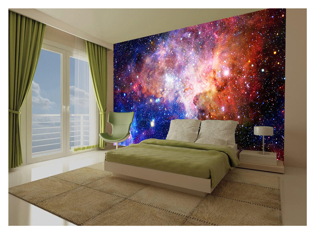 Details About Space Galaxy Stars Planets Wallpaper Mural Photo Kids Bedroom Home Poster Deco