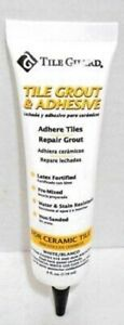 Tile-Grout-amp-Adhesive-Adhere-Repair-Latex-Pre-Mixed-Non-Sanded-White-4-oz-Tube