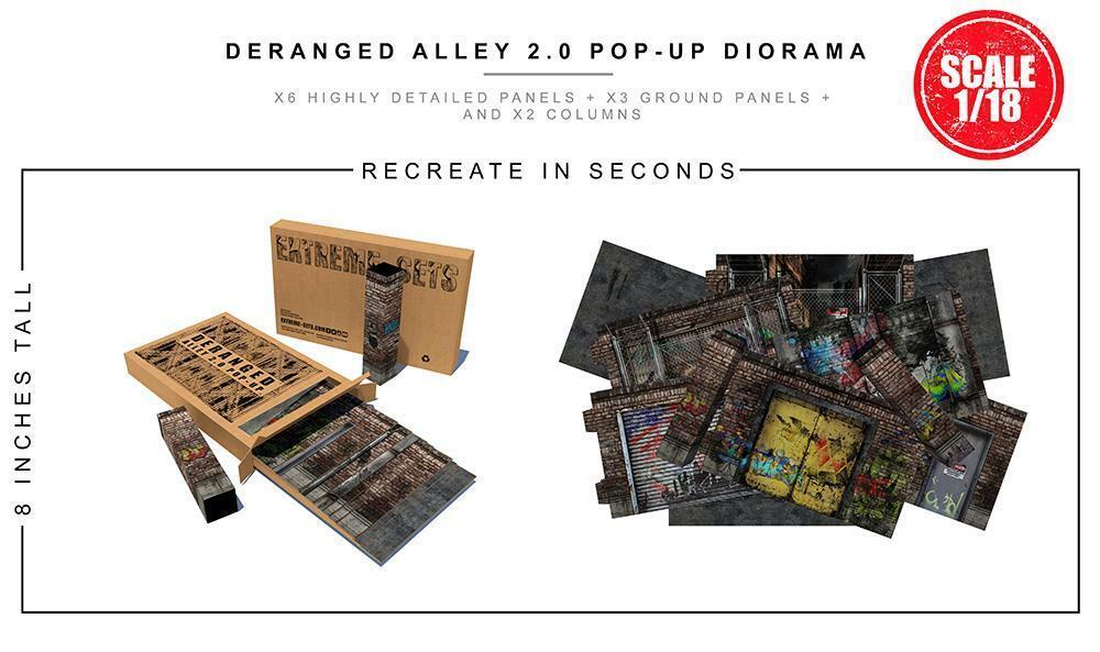 Extreme Sets DERANGED ALLEY 2.0 (1 18) for 3.75   figures POP-UP DIORAMA PRESALE