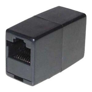 ISDN Adapter, RJ11 Buchse - RJ11 Buchse, Telefon Modular Verbinder Kabelkupplung