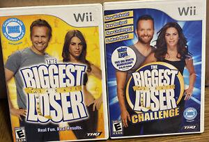 Lot of 2 Nintendo Wii The Biggest Loser The Biggest Loser Challenge