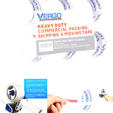 New Listingvergo Industrial Heavy Duty Clear Packing Tape 27mil For Moving Packaging Sh