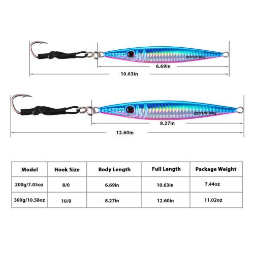 3pcs//lot Metal Jig 80g 100g 150g 200g Lead Jig Saltwater Fishing Lures Tuna