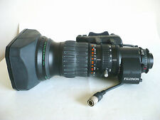 Mint Fujinon A13x6.3BERM-SD wide angle broadcast lens, 2x Extender, Canon BCTV
