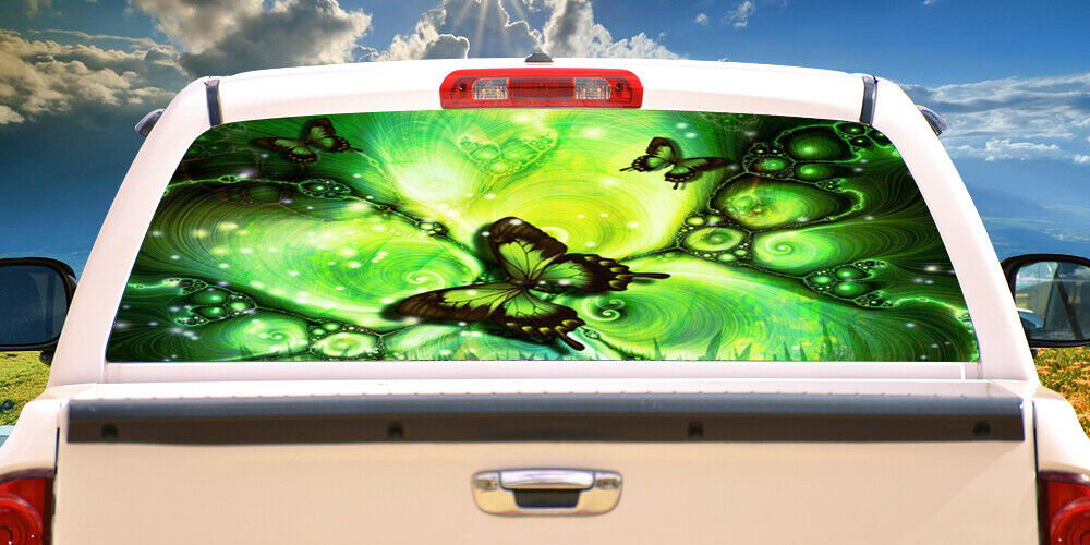 BUTTERFLY FANTASY Rear Window Graphic back truck decal suv view car