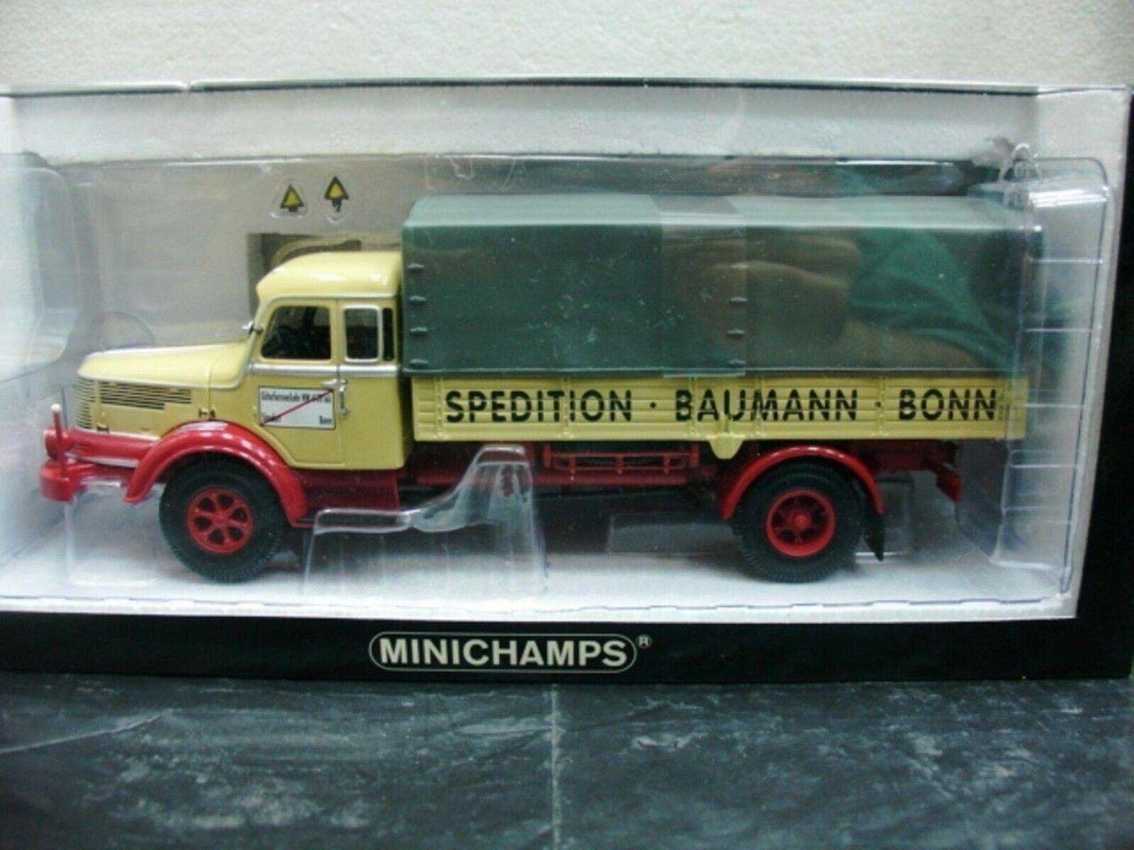WOW estremamente raro KRUPP TITAN pritschenwagen 1951 baumman 1 43 Minichamps - 860