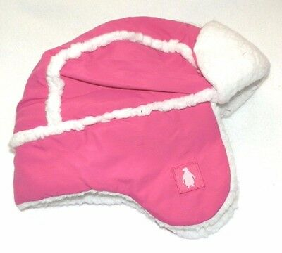 NEW Toddler Girls Trapper Hat Mittens Set Cap Ear Flaps Pink Cat Leopard Print