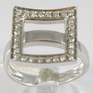 Anillo-de-Oro-Blanco-750-18-CT-Veretta-Ondulado-Cuadrado-Diamantes-Quilates-0-44