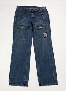 Gaudi jeans uomo usato W34 tg 48 gamba dritta relaxed fit denim boyfriend T6011