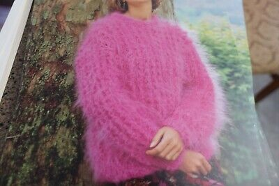 Hayfield Knitting Pattern 00242 Chunky Mohair Sweater 30 ...