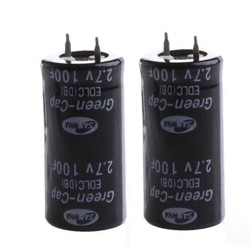 Capacité 2.7V Radial Plombs 2pcs Super Condensateur Ultra Double Couche