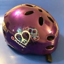 Geo Black//Blue Razor V17 Youth Skateboard Scooter Unisex Adjustable Helmet
