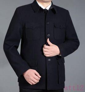 New Traditional Men Chinese Suit Jackets Vintage Coat Zhongshan Pants 2Pcs Suits