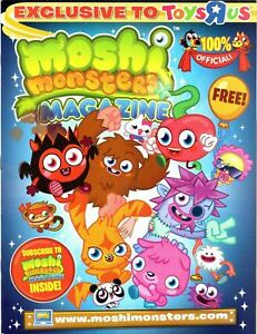 Moshi-Monsters-Magazine-2011-Toys-R-Us-34-pg-Puzzles-Games-Activities-Poster-NEW
