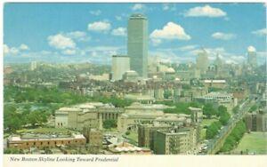 New-Boston-Skyline-Looking-Toward-Prudential-Unused-Vintage-Postcard-A111