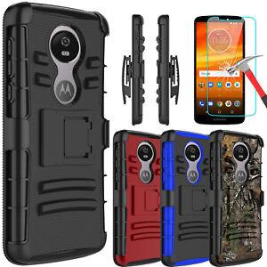 For-Motorola-Moto-E5-Plus-Supra-Armor-Case-With-Kickstand-Clip-Screen-Protector